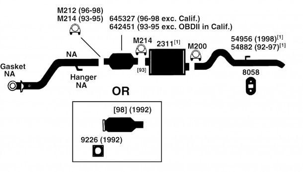 jeep grand cherokee exhaust diagram