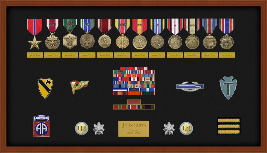 military branches shadow box builder