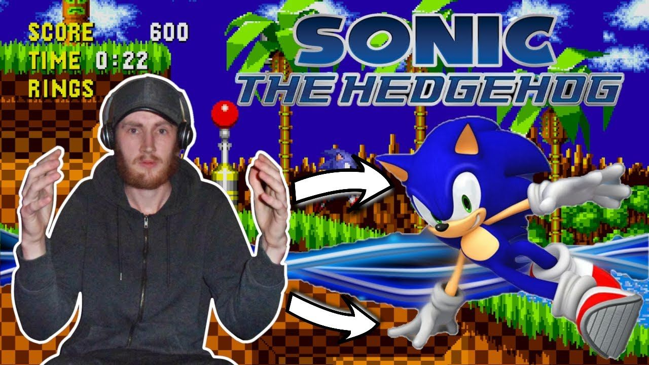 Classic Sonic The Hedgehog Gameplay Walkthrough With Commentary Classic Sonic Sonic The Hedgehog Childhood Games