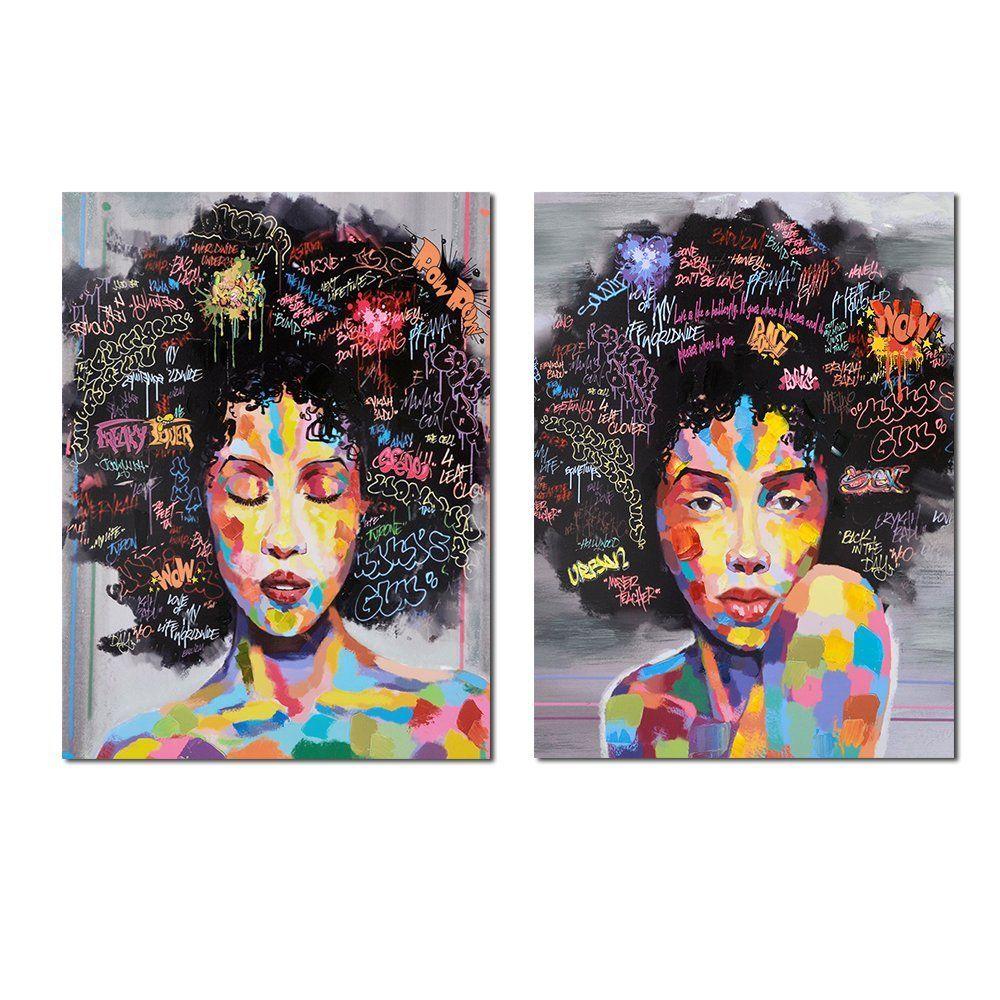 Amazon Com Crescent Art Black Art Unframed African American Wall Art For Livingroom Wall Decor Or African American Wall Art Canvas Painting Canvas Print Wall