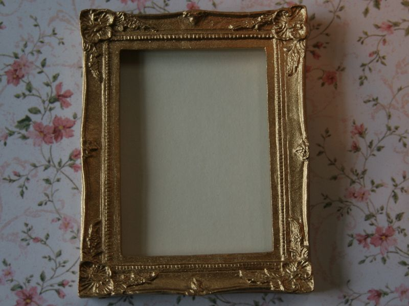 Dolls House Miniature Gold Frame. A720. | Life in Miniature ...