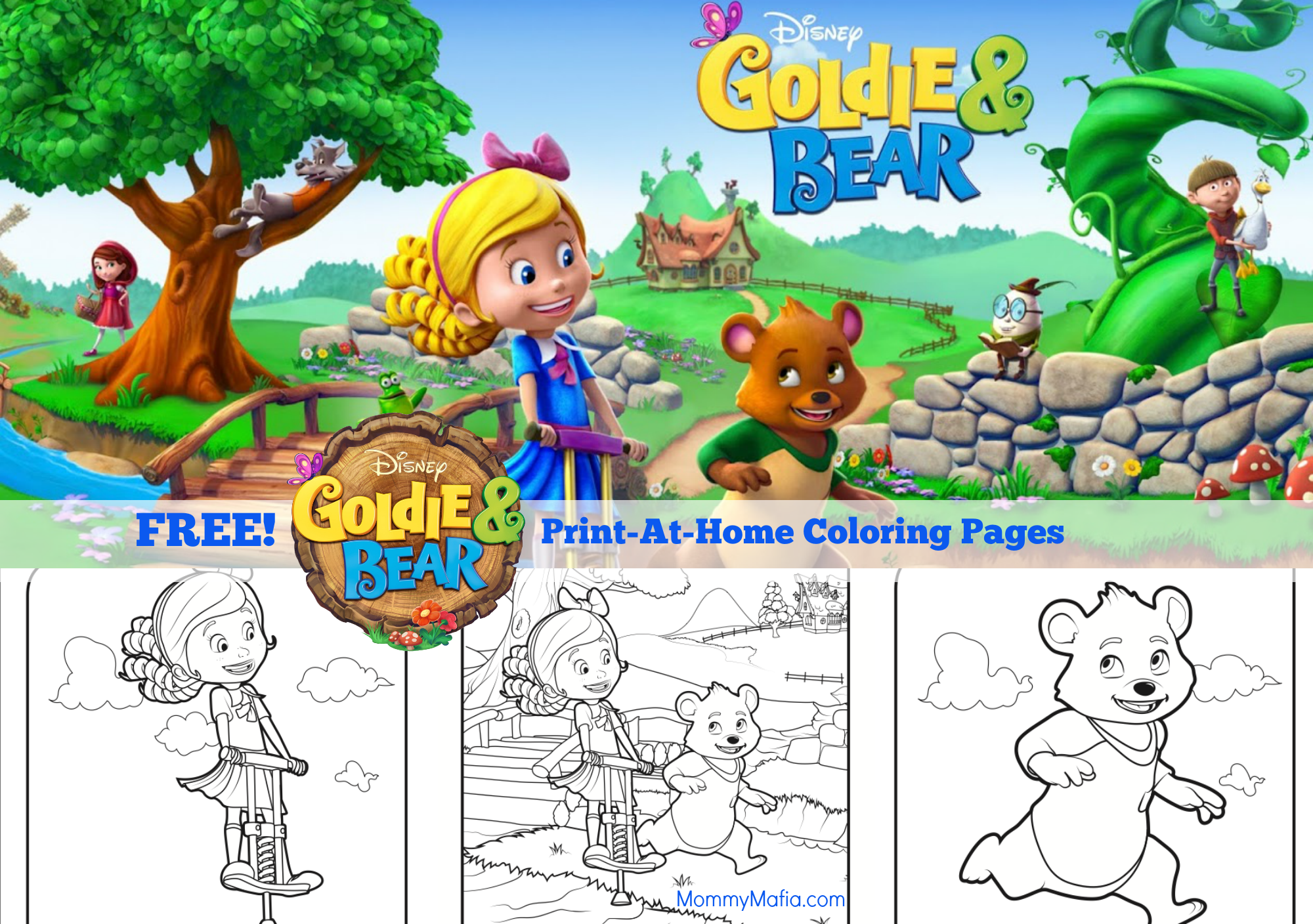 Goldie And Bear Coloring Pages Bear Coloring Pages Bear Birthday Party Bear Birthday