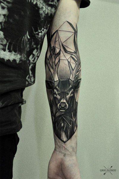 Épinglé par brice fore sur tatoo | tatouage, cerf tatouage et