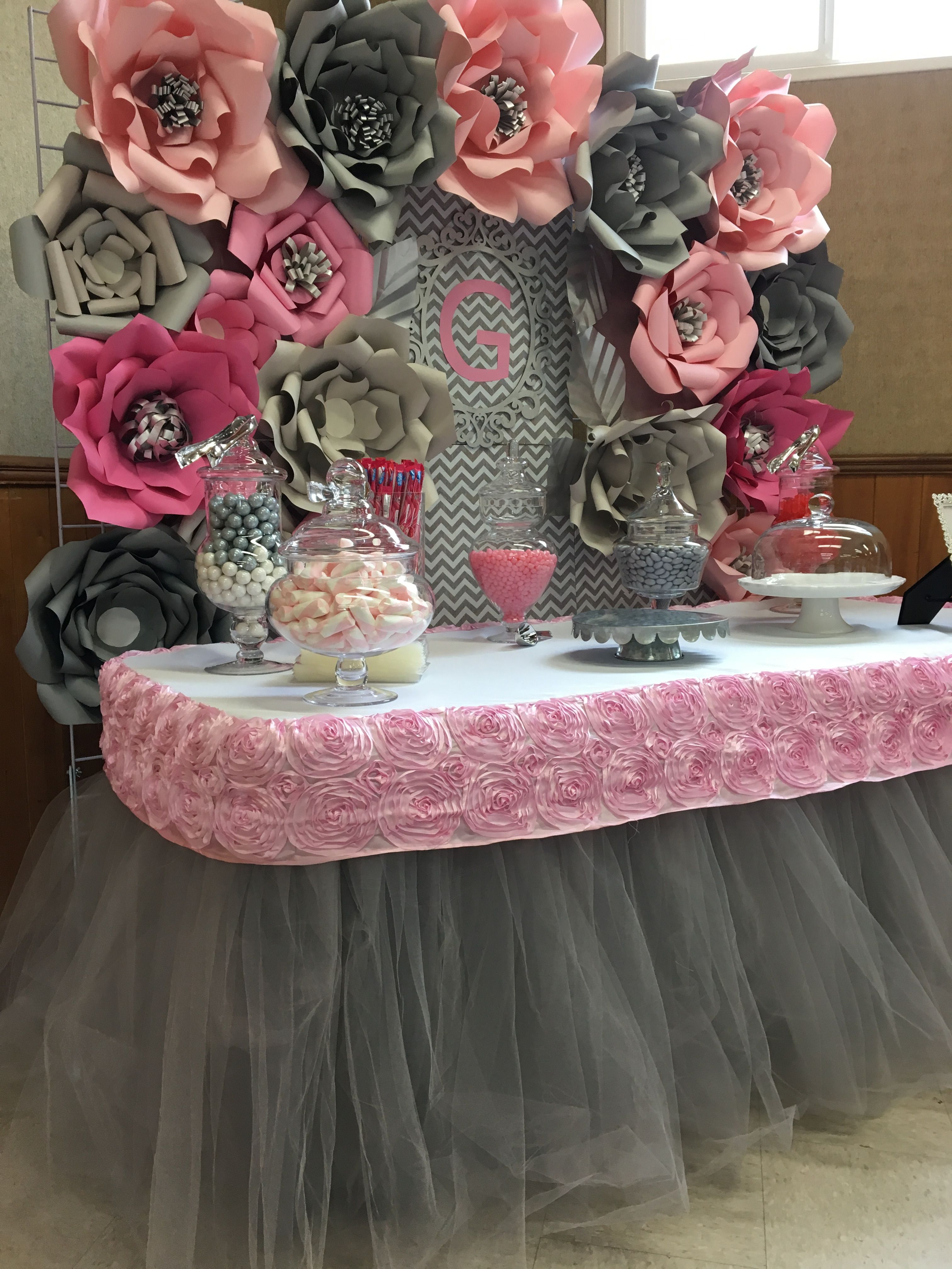 Candy Table Decoration Paper Flower