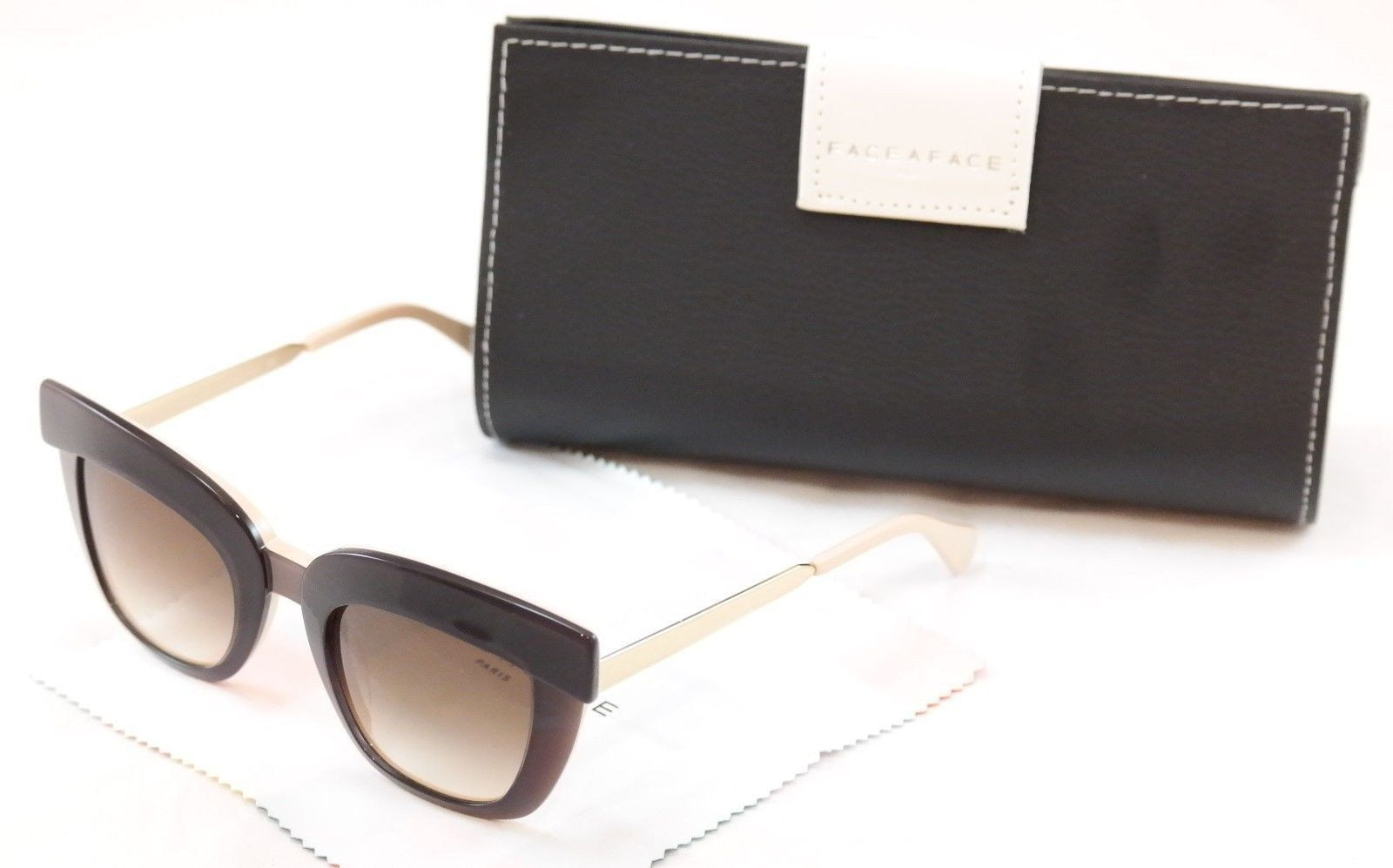 7dc1fa3483 Face A Face Sunglasses Dolce 2 3141 Dark Mauve   Opaque Nude Plastic Metal  Italy