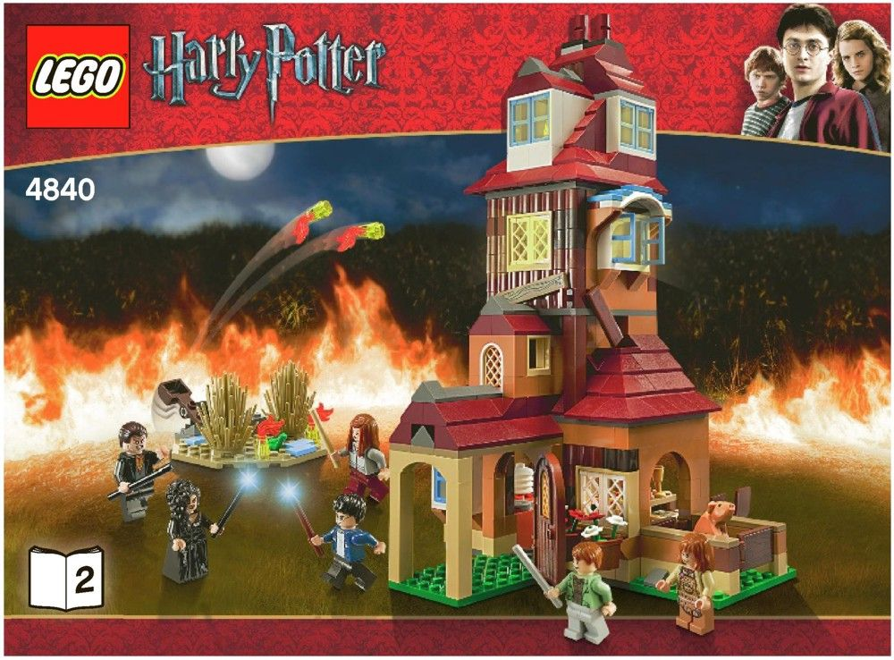 Harry Potter The Burrow Lego 4840 Legos Pinterest Lego