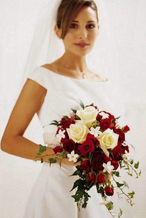 ramo de novia rojo en cascada buscar con google
