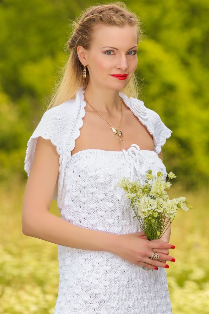NEW Hand Knitted Cotton Wedding Dress Handcrafted bridal gown by ...