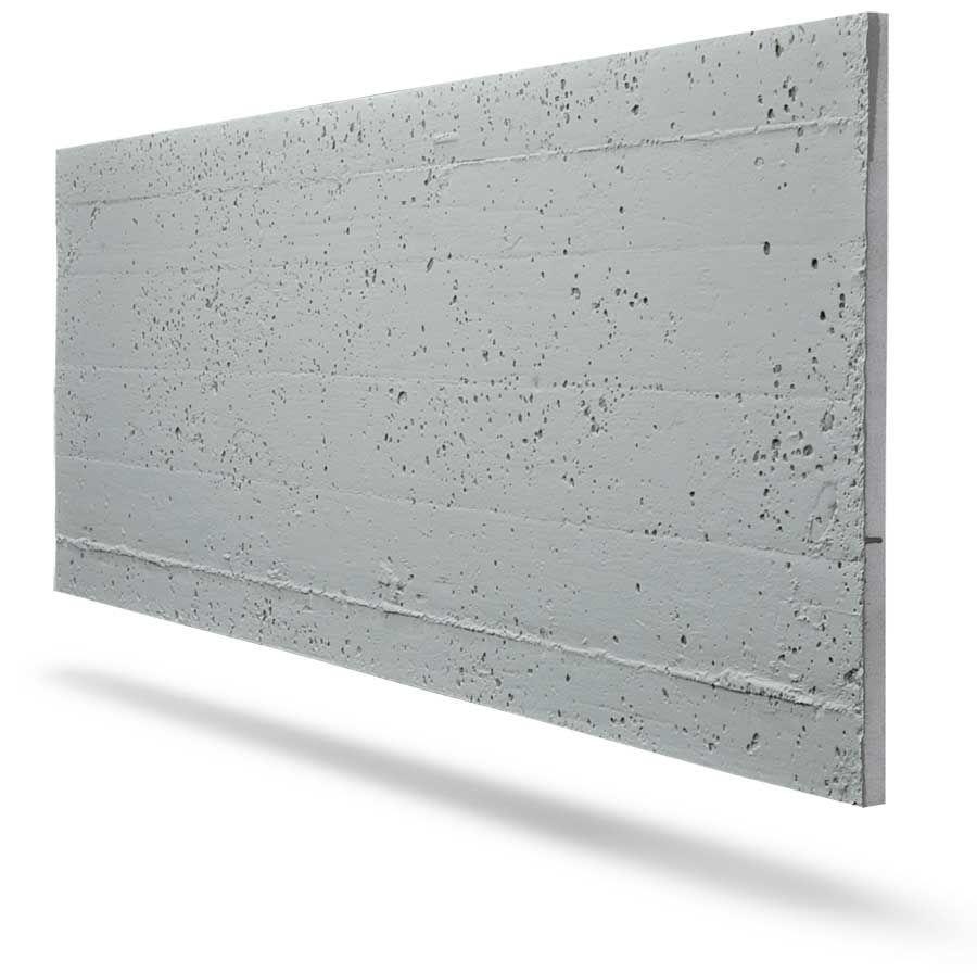 Finishing by concrete, decorative panels under concrete