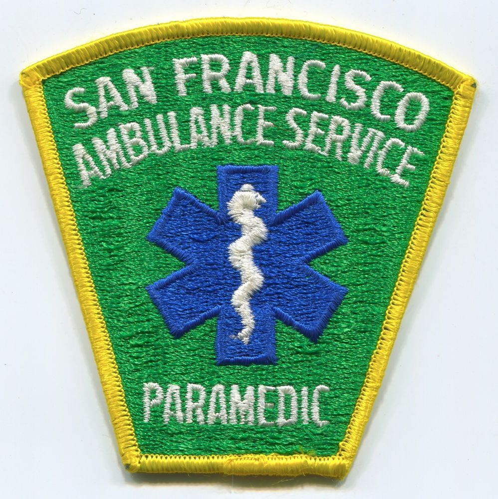 AMBULANCE TOUR Iron On Patch Medical Vehicle Emergency
