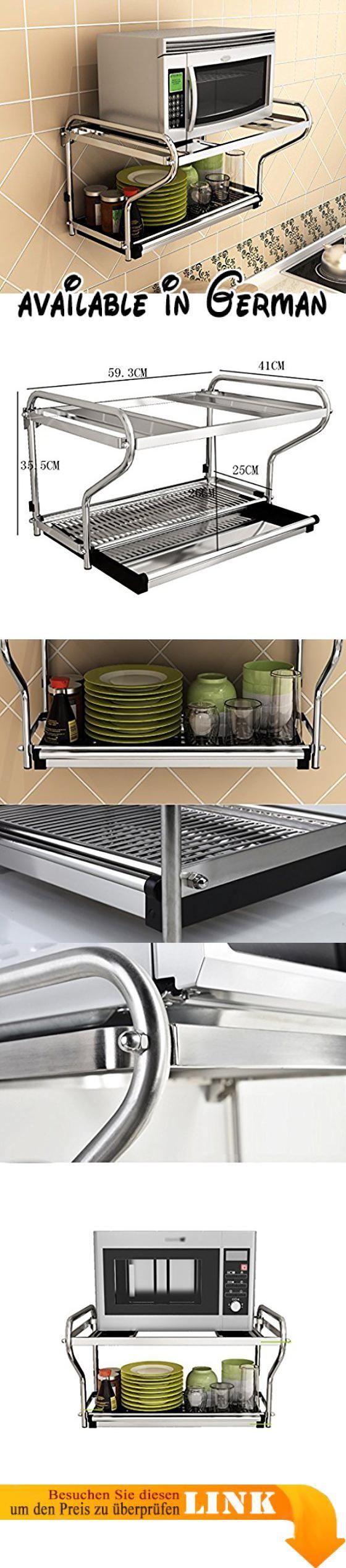 B078V2BGCT : Küche Regal Mikrowelle Ofen Rack Ofen Doppelschicht ...