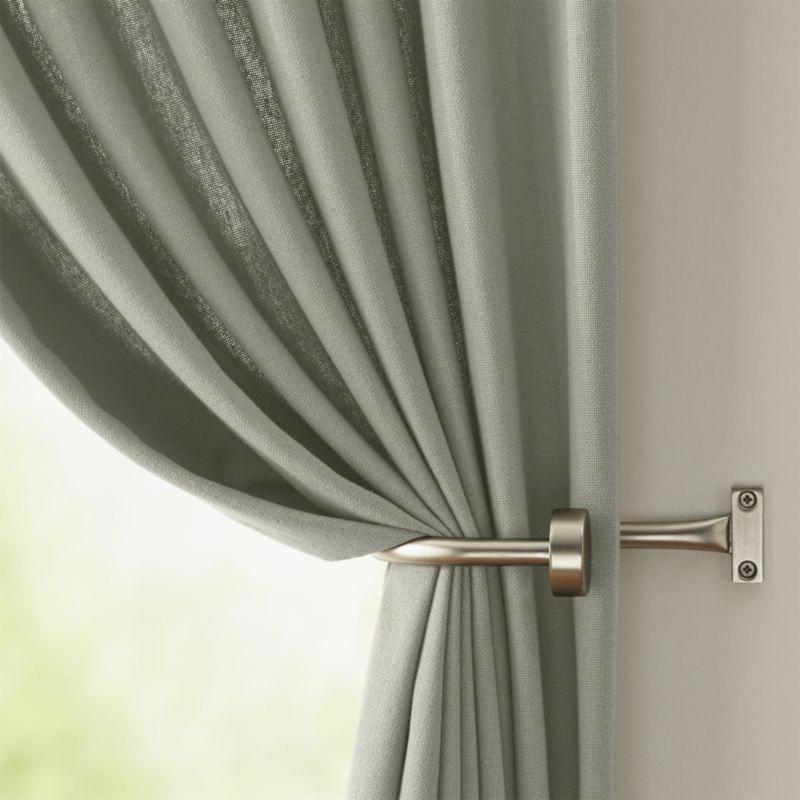 Cb Matte Nickel 1 25 Dia X28 48 Curtain Rod Set Homedecor Curtain Rods Hanging Curtain Rods Silver Curtains
