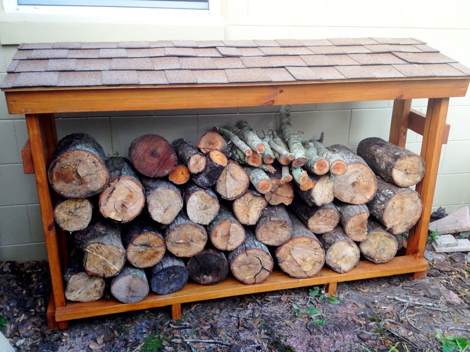 Best Firewood Rack Complete With A Shingled Roof Diy 400 x 300