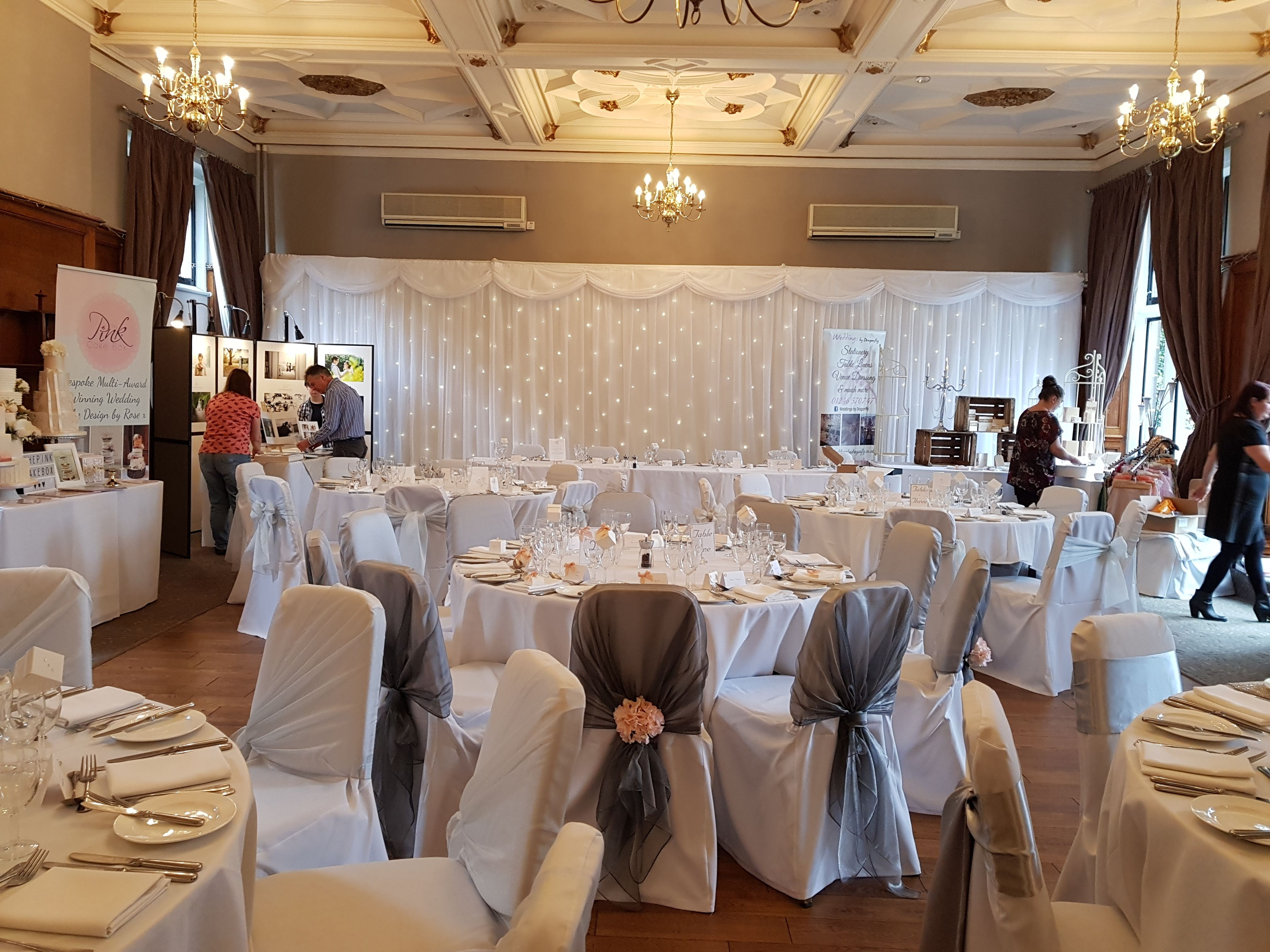 Chatsworth Suite Set Up For Todays Wedding Fayre Setup By Weddings Dragonfly Twinkle FayreBackdrops