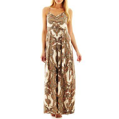 39e0c1416bcf Bisou Bisou® Tie-Waist Maxi Dress - jcpenney  70.00