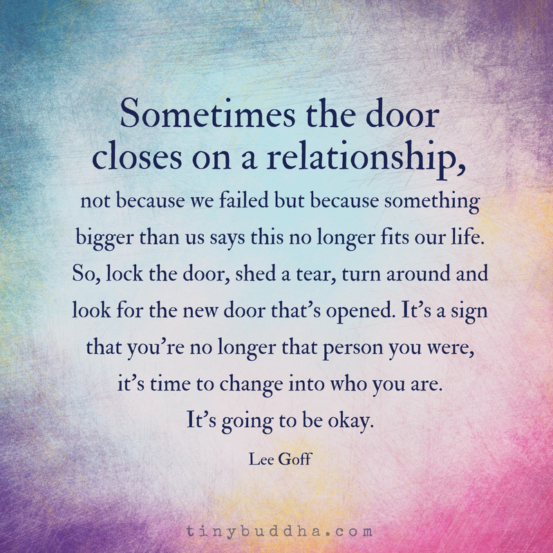 Sometimes the Door Closes on a Relationship - Tiny Buddha