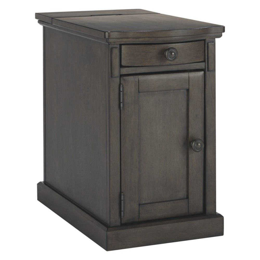 Best Laflorn Chair Side End Table Gray Signature Design By 400 x 300