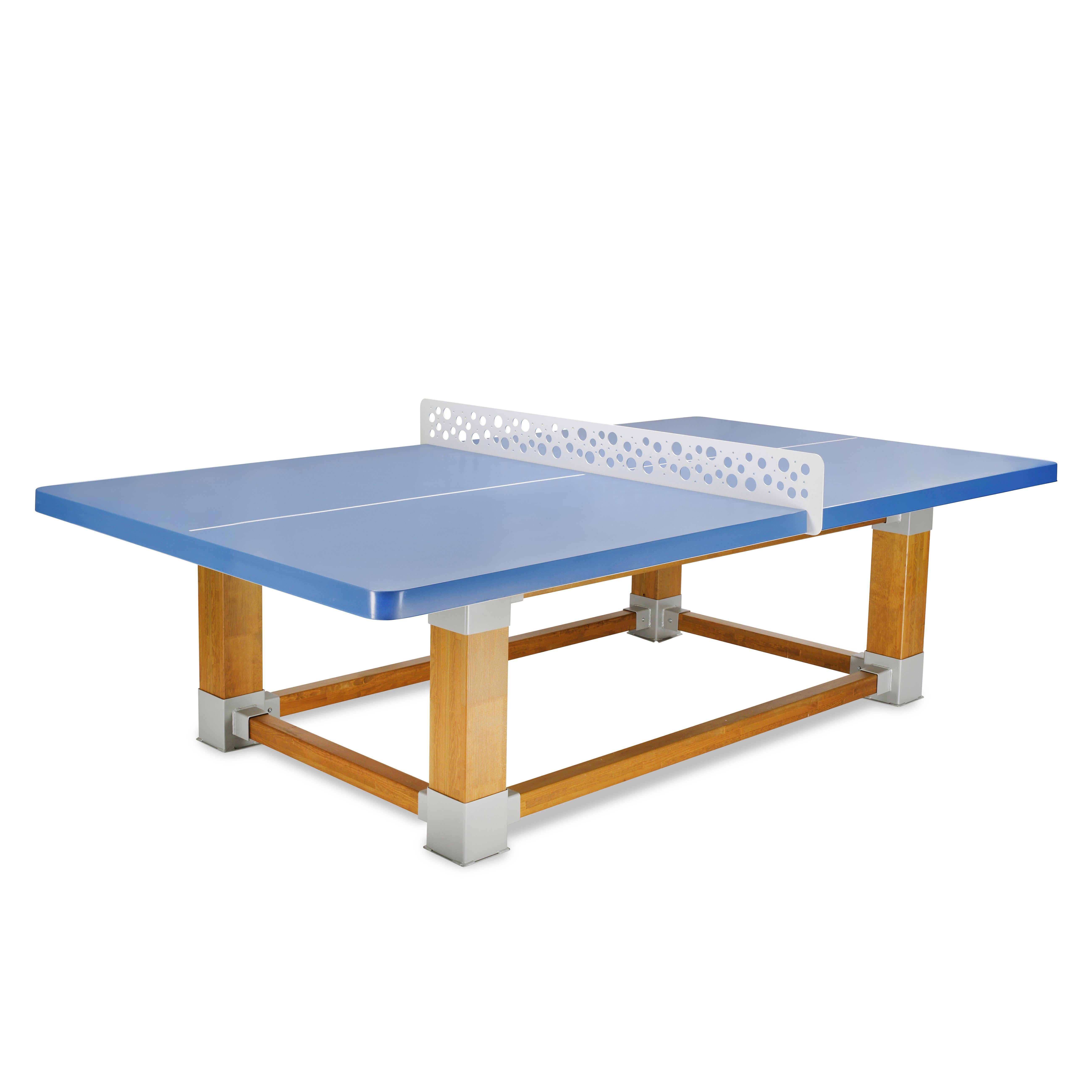 Table de ping-pong Natura, modèle sophistiqué avec piétement en bois ...