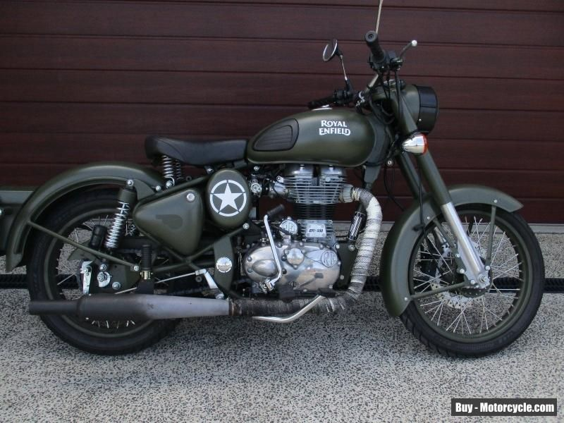2015 Royal Enfield 500 Bullet Classic Battle Green Motorcycle