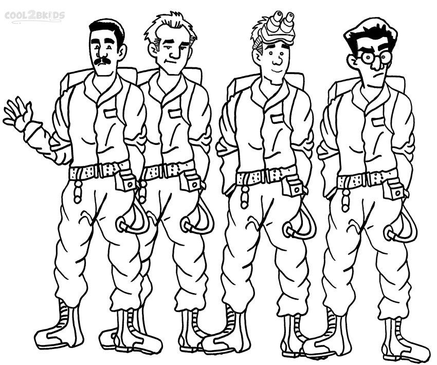 Ghostbusters Coloring Pages Cartoon Coloring Pages Ghostbusters