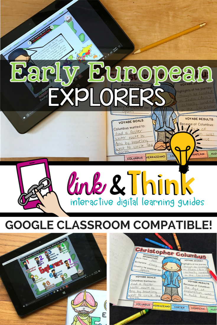 Early European Explorers LINKtivity (Interactive Learning