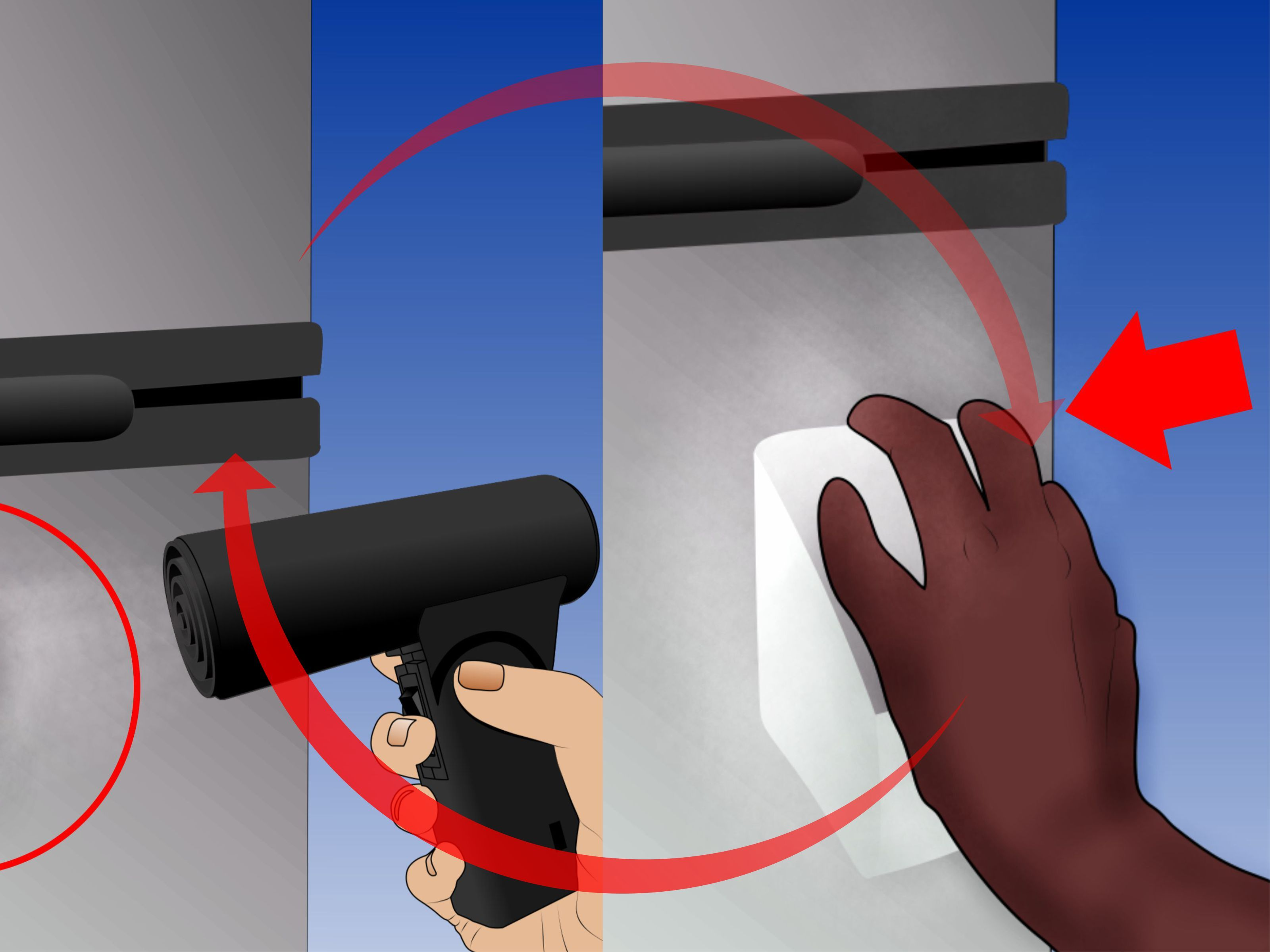 Remove a Dent from a Stainless Steel Refrigerator | The