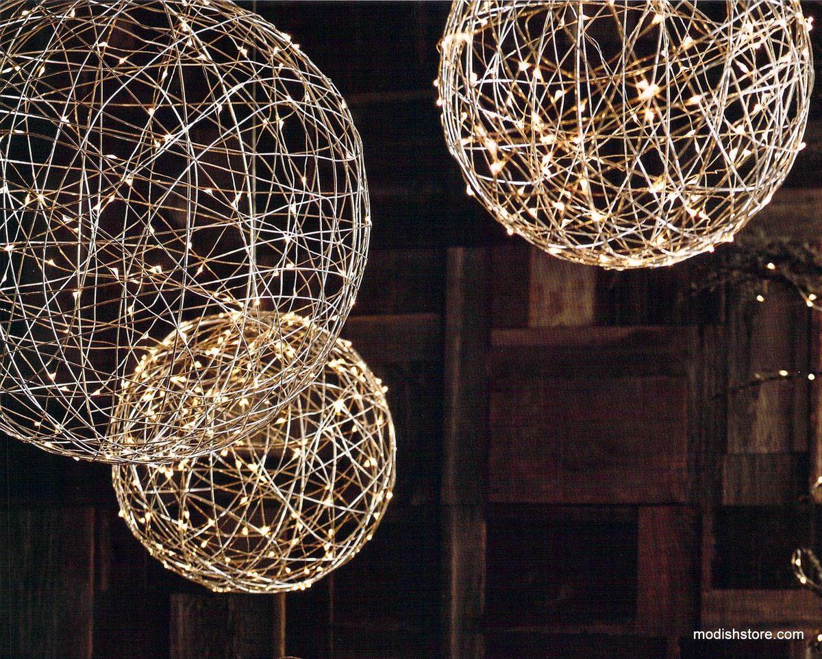 Lampadario Allaperto : Roost decorative metal silver light spheres home decor pinterest