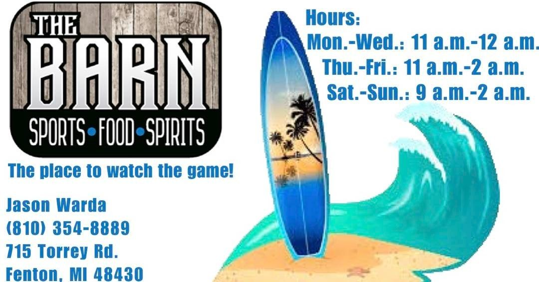 Looking for a place to start March Madness off at? Head over to The Barn!