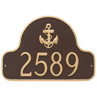 montague metal products anchor arch address plaque finish black