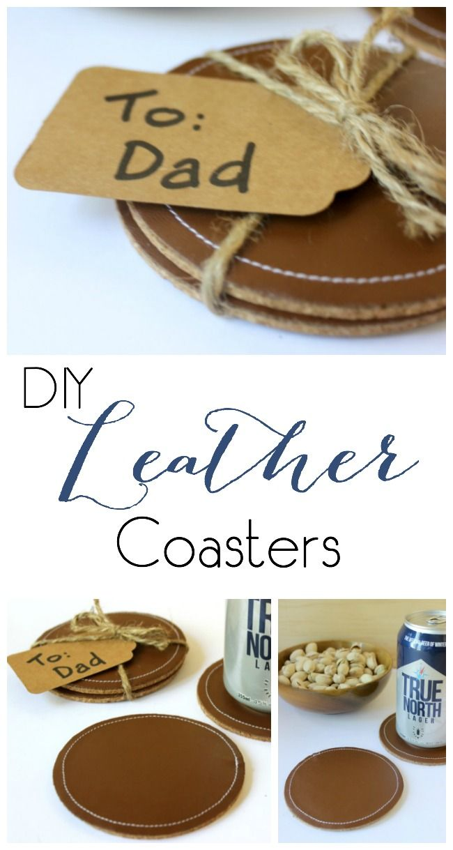 How to make diy coasters with leather coasters dads and cricut