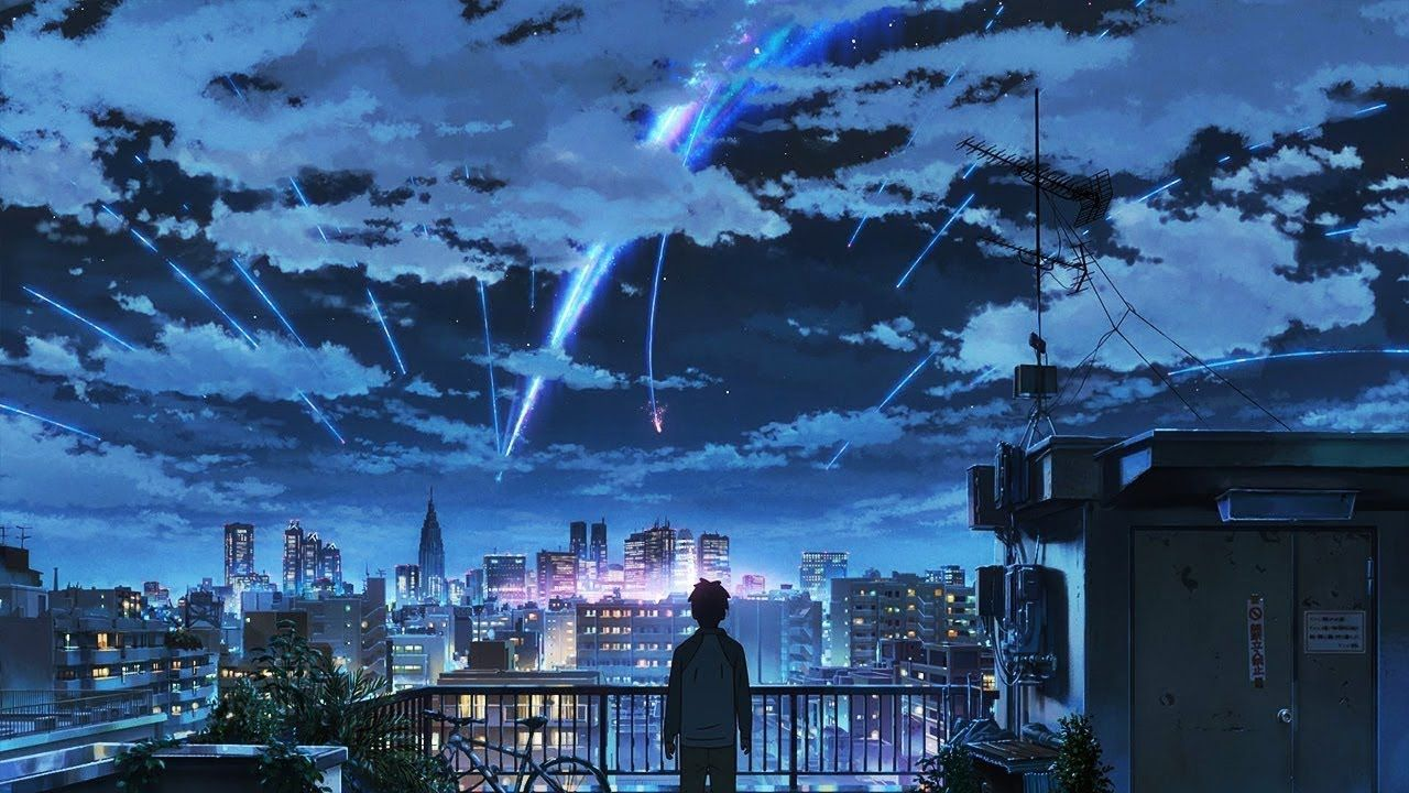 𝙰𝙻𝙾𝙽𝙴 lofi hiphop 𝔸𝕄𝕍 Kimi no na wa, Wallpaper animes
