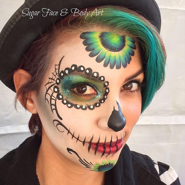 halloween ideas sugar skull face painting - Skull Face Painting Ideas For Halloween