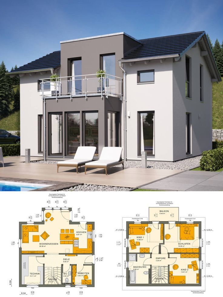 Modernes haus mit satteldach architektur zwerchgiebel for Modernes haus bauen