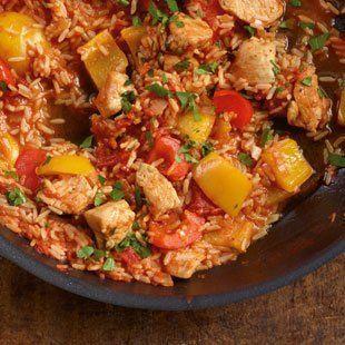 Paprika-Puten-Reis Rezept