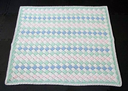 Tunisian crochet baby blanket - full size