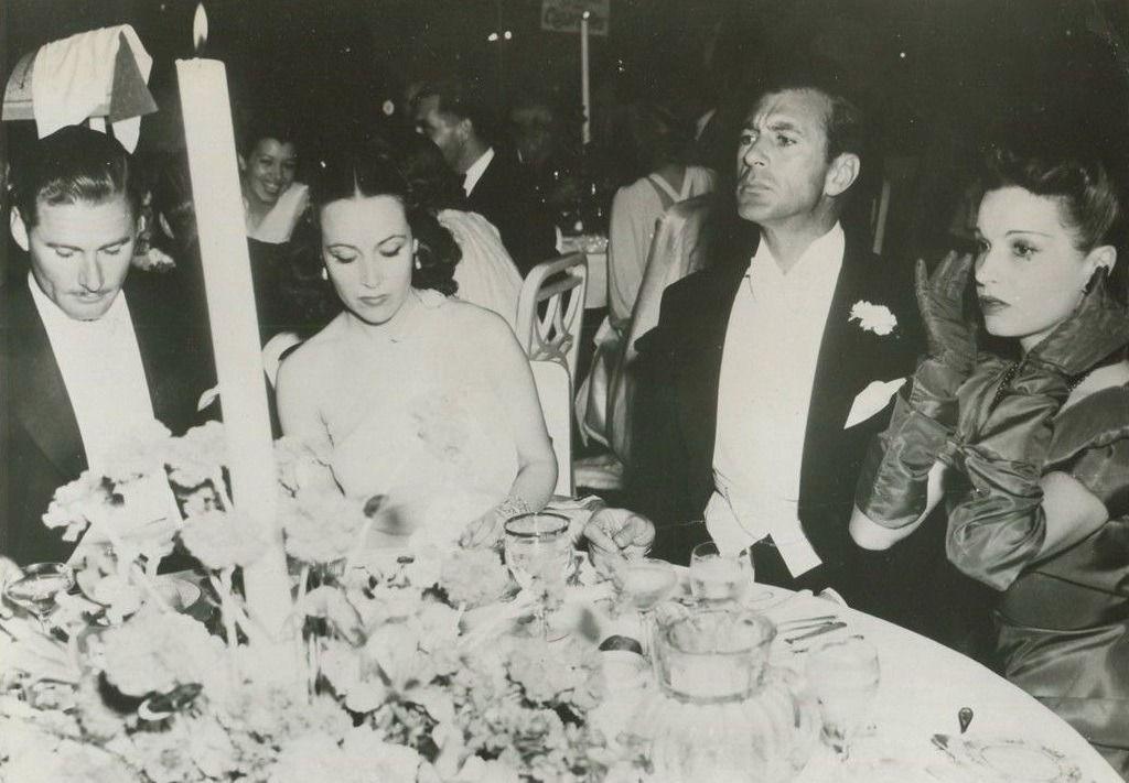 """""""Errol Flynn, Dolores Del Río, Gary Cooper And Lili Damita"""