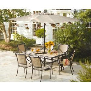 Hampton Bay Andrews 7 Piece Patio Dining Set T07F2U0Q0017 At The Home Depot