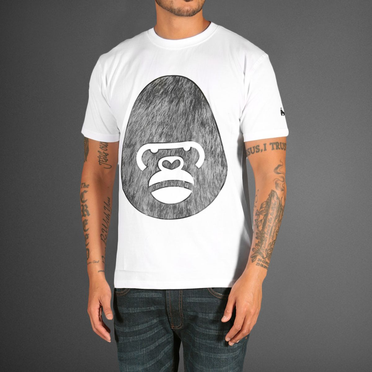 06d8a412 Gorilla T-Shirts | Money Clothing George Gorilla Fur T-Shirt - WEHUSTLE |  MENSWEAR .