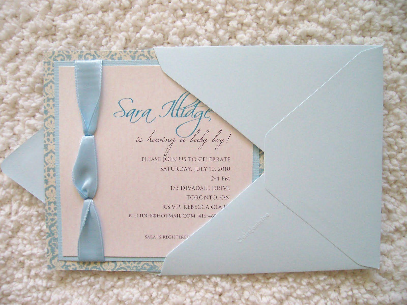 Baby Shower Invitations, Elegant Baby Shower Invitations Envelope ...