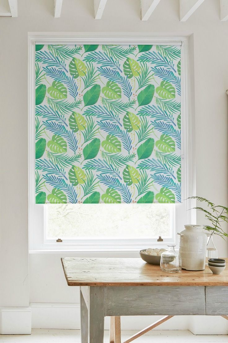 Tropic Green Roller Blind | Green roller blinds, Bedrooms and Kitchens