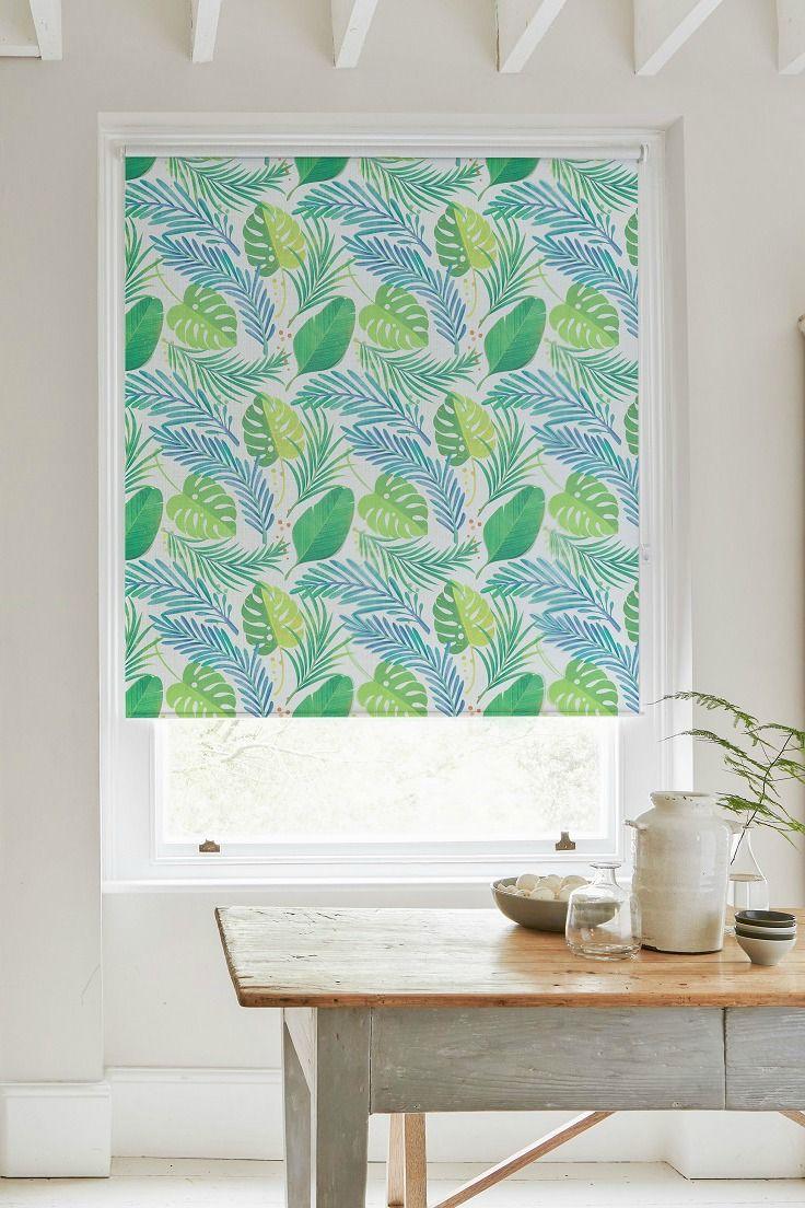 Tropic Green Roller Blind | Pinterest | Green roller blinds ...