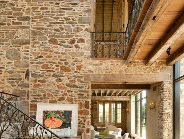 Plafond Haut Comment Decorer Les Murs Pierre De