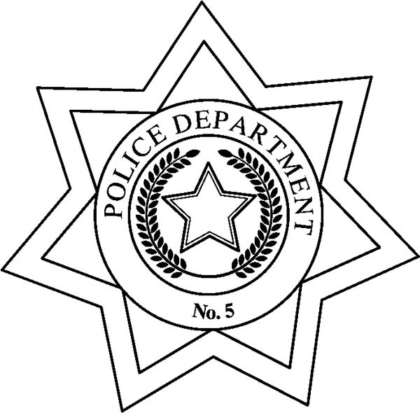 Police Department Badge Coloring Page Coloring Sky In 2020 Police Badge Coloring Pages Poppy Coloring Page
