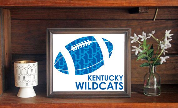 University of Kentucky UK Wildcats Football Print