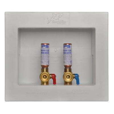 1 2 In Washing Machine Outlet Box With Water Hammer Arrestors