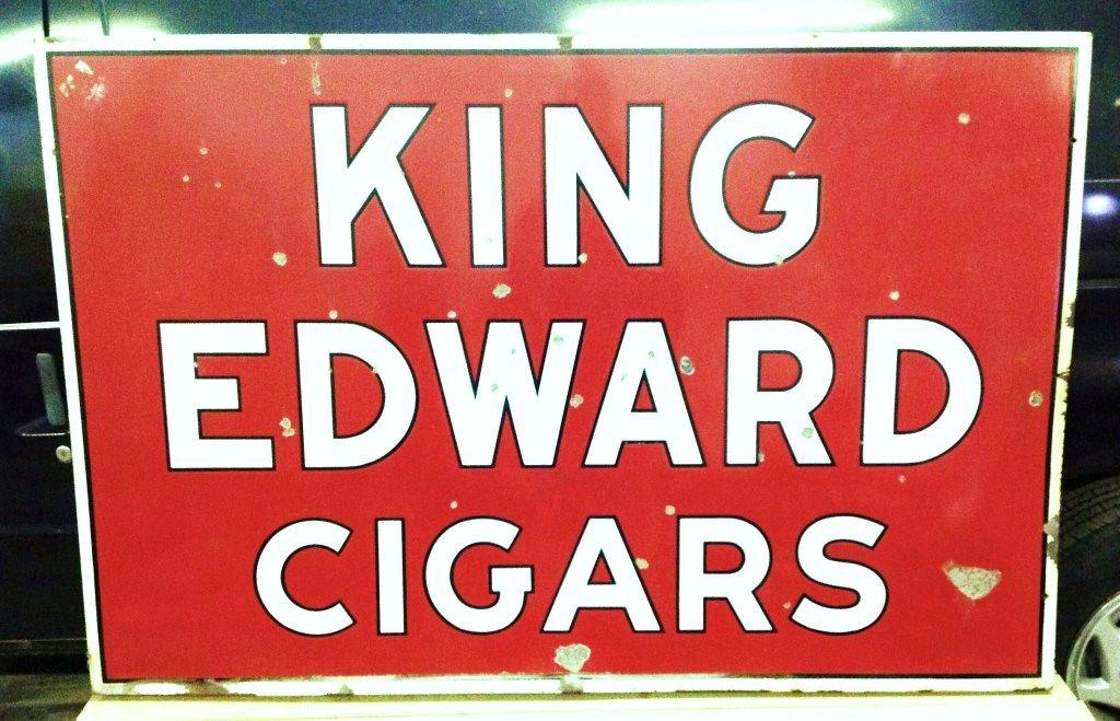 1930 S King Edward Cigars Sign