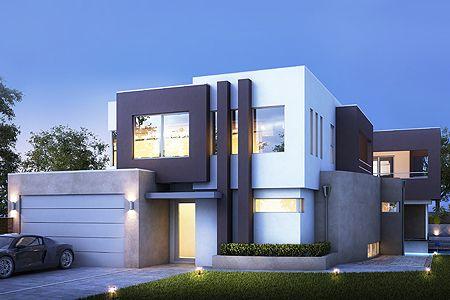 Exterior -- The Hudson House Plan (Boyd Design) (Modern Two Storey