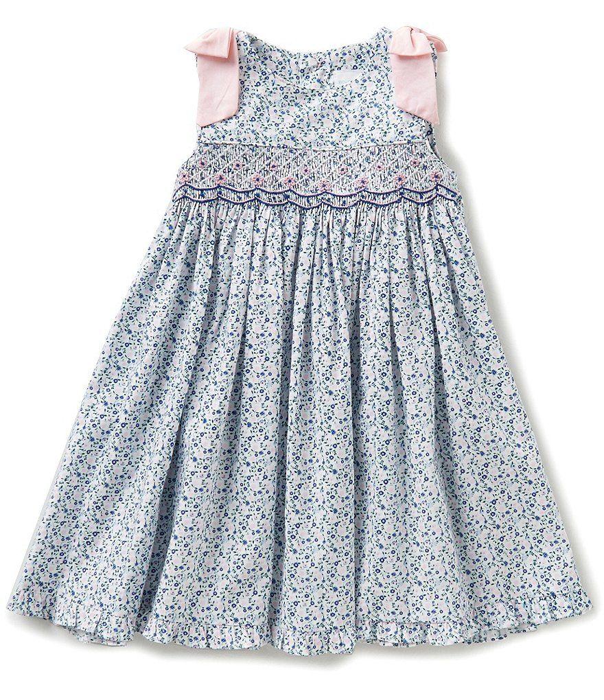 7e73f025d1 Edgehill Collection Baby Girls 3-24 Months Sleeveless Floral Print Dress