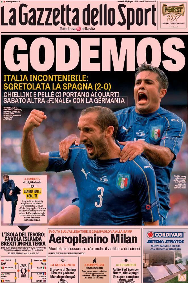 Prima pagina La Gazzetta dello Sport Sport, Figurine
