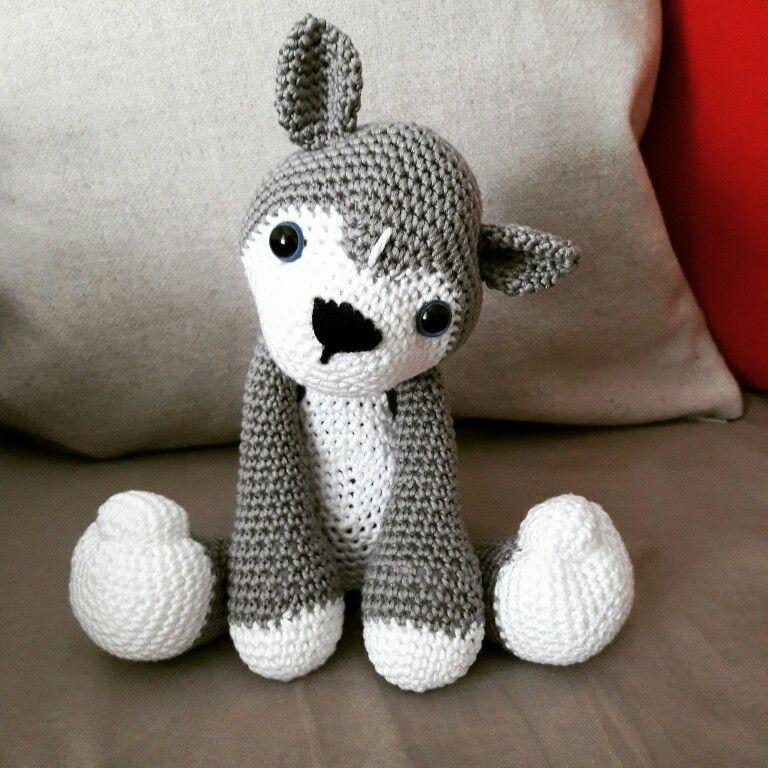 husky (entala) Tags: dog toy husky amigurumi | Crochet wolf ... | 768x768